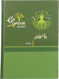 Toss 2021 A5 & 330 Pages Ruled Diary (Green) (S-50) (Pack Of 1)