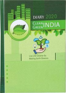 Toss Hard Bound Diary 2020 A5 Diary Single Rule 382 Pages (Green) (Pack Of 1)