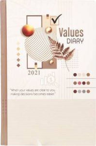 Toss Chief Values 2021 A5 Diary Ruled 330 Pages For Office, Personal (Brown) (Pack OF 1)