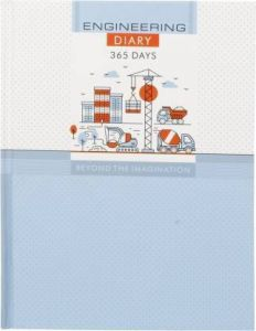 Toss 2021 B5 Diary Ruled 365 Pages (Blue & White) (S-61) (Pack Of 1)
