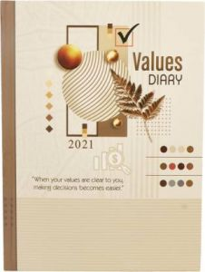 Toss 2021 B5 Diary Ruled 330 Pages (Brown) (S-69) (Pack OF 1)