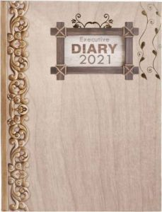 Toss Metallic 2021 B5 Diary Ruled 330 Pages (Brown) (S-77) (Pack OF 1)