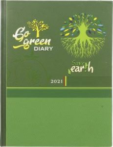 Toss S-71 2021 B5 Diary Ruled 330 Pages (Green)