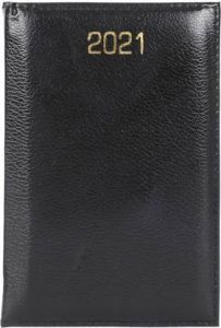 Toss Table Super 2021 A6 Diary Ruled 330 Pages For Traveling, Office (Black)