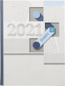 Toss 2021 B5 Diary Ruled 330 Pages (Brown) (S-76) (Pack Of 1)