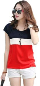 Solid Women Round Neck Red T-Shirt