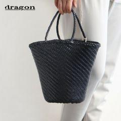 New Dragon Women Handmade Woven Leather 45 Myra Basket Tote Hand Bag