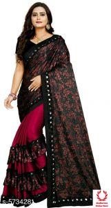 Women's Stylish & Fashionable Charvi Voguish Sarees (Pack of 1)