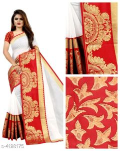 Aagyeyi Fabulous Chanderi Cotton Sarees (Pack of 1)