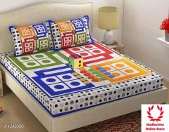 New Traditional & Fashionable Ludo Bed Sheet (Pack of 1)