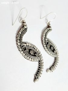 Exclusive Vj 925 Silver Oxidized Smokey Earrings For Women