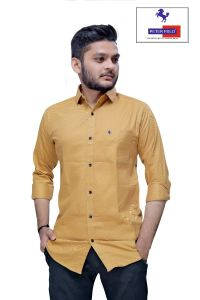 Peter Field Stylish Regular Fit Cotton Blend Full Sleeves Shirt with Light Weight Fabric for Men's
