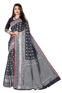 Kanchipuram Box Silk Blend Woven Jacquard Work Banarasi Saree for Women