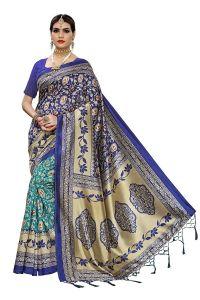 New Art Silk Woolen Jacquard Fabric Saree for Womens