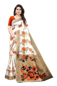 Womens, Woollen Jacquard Fabric Saree with Blouse Piece for All Occasion