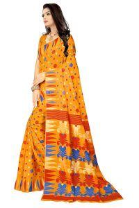 Dhakai Jamdani Handloom Woven Pure cotton Soft Silk, Light weight, Transparent Saree with Blouse Piece for Womens
