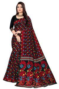 Womens Dhakai Jamdani Pure cotton Soft Silk Light weight Transparent Saree with Blouse Piece