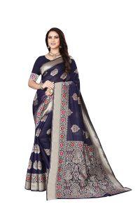 Banarasi Silk Richi Pallu Saree With Unstitched Blouse Piece for Womens