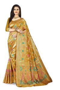 Comfortable and Stylish, Beautiful Banarasi Kanjivaram Silk Saree with Blouse