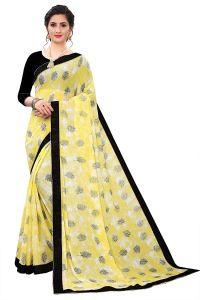 Comfortable and Stylish, Cotton Rayon Blend Saree with Unstitched Blouse