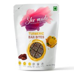 She Made Turmeric Bar Bites (100 gm)