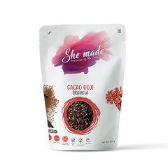 She Made Cacao Goji Granola (Pack of 3)-250gm*3