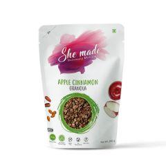 She Made Apple Cinnamon Granola (Pack of 3)-250gm*3