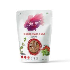 She Made Sundried Tomato & Basil Cracker (Pack of 3)-150gm*3