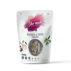 She Made Rock Salt & Pepper Cracker (Pack of 3)-150gm*3