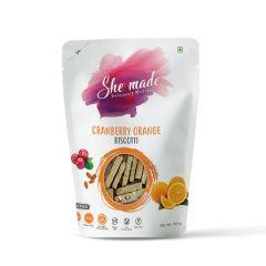 She Made Cranberry Orange Biscotti (Pack of 3)-150gm*3