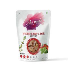 She Made Sundried Tomato & Basil Cracker (Pack of 2) -56.6gm*2