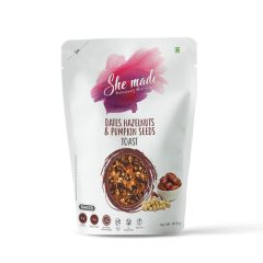 She Made Toast- Dates Hazelnut & Pumpkin Seed (Pack of 2) -56.6gm*2