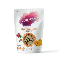 She Made Cranberry Orange Biscotti (Pack of 2) -56.6gm*2