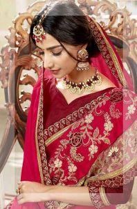 Casa Ciega Stylish & Fashionable Silk Chiffon For Ceremony, Wedding, Evening Parties| Pack of 1