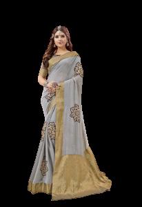 Casa Ciega Stylish & Silk Chiffon For Ceremony, Wedding, Evening Parties| Pack of 1