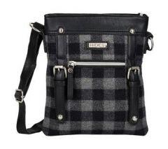ASPENLEATHER Black Pure Wool Leather Cross Body Bag