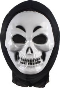 PTCMART Scary Plastic White 2 line Mask For Party Costumes (Multicolor, Pack of 1)