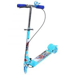3 Wheel Foldable Height Adjustable Scooter For Kids With Wheel Lights, Handbrake & Bell (Pack Of 1)