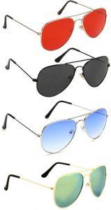 Trendy 100% Gradient, UV Protection Aviator Sunglasses For Men & Women (Pack Of 4)