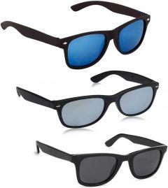 UV Protection Wayfarer Sunglasses | Ideal For Men & Women (Free Size) (Pack Of 3)