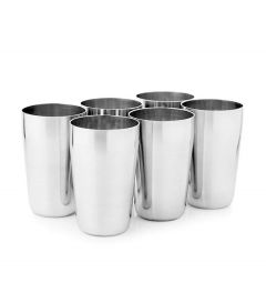 Multi Purpose Unbreakable Stainless Steel Serving Glasses Medium Size (Pack of 6)