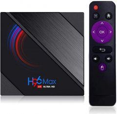 4K H96 MAX Android Smart TV Stick with WiFi, Android 10.0 and 4GB RAM 32GB ROM,,H.265, Dual WiFi 2.4G + 5.8G Dual WiFi 2.4G 5.8G for LED,LCD TV,CRT T Ideal for Tv