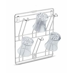 Stainless Steel Wall Mounting Glass Holder 6 Glass Storage Wall Hanging Glass Stand Chrome Plated