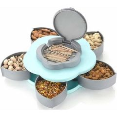 Candy Box Serving Rotating Tray Dry Fruit, Candy, Chocolate, Snacks Storage Box, Masala Box For Home Kitchen