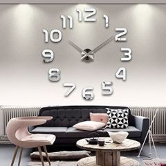 3D Alloy Clock Sticker Wall Clock Suitable For Living Room