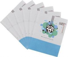 Toss 2021 A5 Diary Ruled 165 Pages For Office & Personal (White & Blue) (Pack of 6)