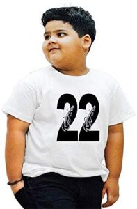 Stylish 22-Lucky-Number Printed Round Neck T-shirts For Kids