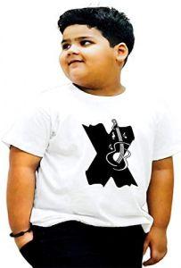 Stylish X-Alphabet Printed Half Shelves T-shirts For Kids