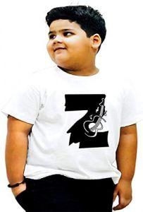Stylish Z-Alphabet Printed Regular Fit T-shirts For Kids