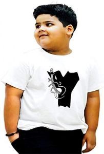 Round Neck Y-Alphabet Printed Regular Fit T-shirts For Kids
